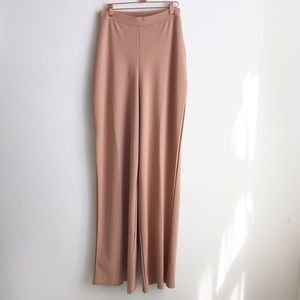 NWT missguided Camel High waisted wide leg